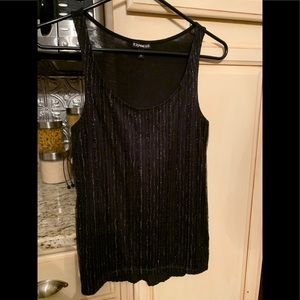 Express black shimmer top. Size xs. Never worn.